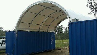 Container Shelter 6m W x 6m L suit 2 x 20 shipping containers