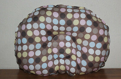 *NEW*  Handmade Infant Prevent Flathead Baby pillow - Brown Multi Dots