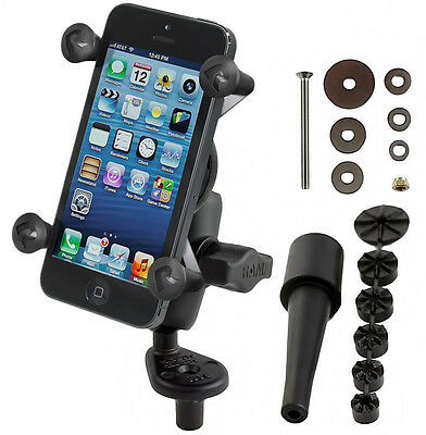 RAM Motorcycle Fork Stem Mount with Short Arm & X-Grip Holder - Fits iPhone 6
