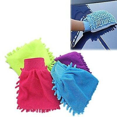 Car Vehicle Microfiber Soft Hand Towel Chenille Fleece Washing Cleaning Glove