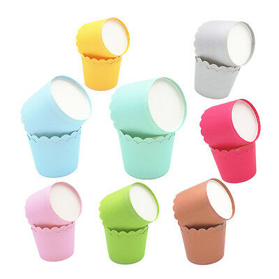 24x Candy Color Cupcake Liner Case Wrapper Muffin Greaseproof Dessert Baking Cup