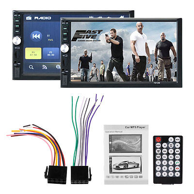 7'' Touch Bluetooth Coche Stereo Radio 2 DIN USB/TF/AUX/ Pantalla Táctil DHL