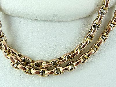 "9ct Gold Victorian Chain. Made from a Muff / Guard Chain. Length 17"". NICE1"