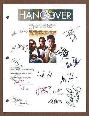 The Hangover Signed Script Rpt Bradcooper  Zach Galifianakis  Ed Helms