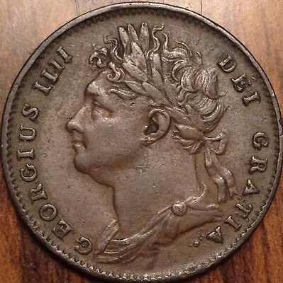 1825 Gb Farthing In Superb Hg Condition !