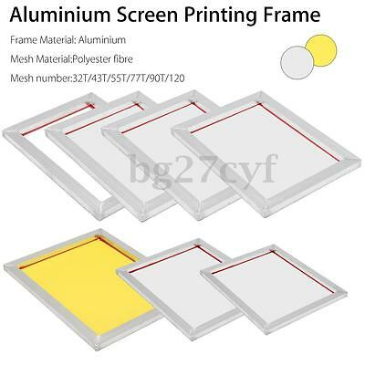 A3/A4 Aluminium Screen Printing Frame Stretched With White Silk Print Mesh NEW