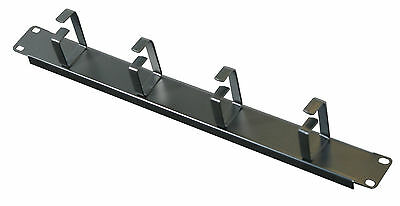 1U Rack Panel 4 loop Cable Tidy Management 19 inch Network Panel