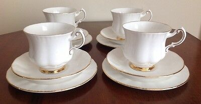Paragon Fine Bone Vintage China Trio Cup Saucer Side Plate Tea Party Wedding