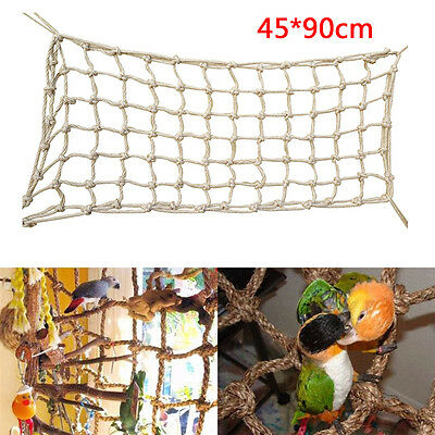 New 90x45cm Parrot Birds Large Rope Net Swing Ladder Chew Climbing Play Gym Toys