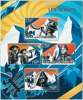 Togo - Error, 2014 Missperf Sheet: Boy Scouts, Nature, Mountaineering