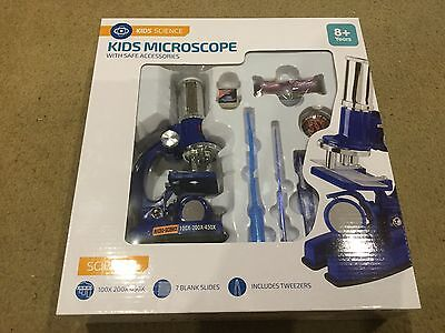 Kids Microscope Set Childrens Educational Toy 37 pc Science Activity Set - New