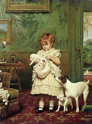 JACK RUSSELL SMOOTH FOX TERRIER DOG ART PRINT Victorian by Charles Burton Barber