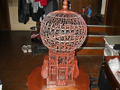 vintage tuscan bird cage and antique table stand