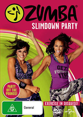 Zumba Slimdown Party (Exercise in Disguise!)  - DVD - NEW Region 4, 2