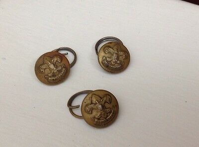 """Lot of 3 Boy Scout """"Be Prepared"""" Pat1911 Buttons"""