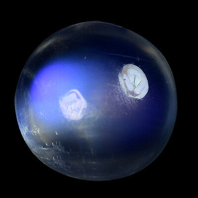 5.885Cts  STUPENDOUS STUNNING  WHITE NATURAL BLUE MOONSTONE ROUND CABOCHON