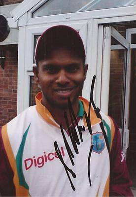 WEST INDIES: SHIVNARINE CHANDERPAUL SIGNED 6x4 PORTRAIT PHOTO+COA