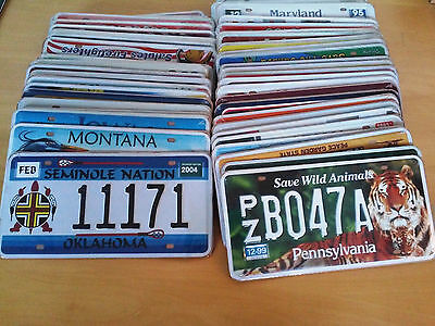 Set Of 50 Us American Number Plates Usa Metal Replica Vintage Collectible