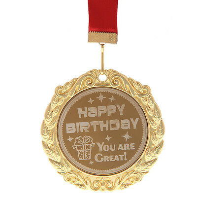 "Medaille ""Happy birthday, you are great"" Jubiläum Geburtstagsgeschenk Orden"