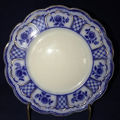 """FlOW BLUE MELBOURNE 7"""" BUTTER PLATE BY GRINDLEY NEAR MINT CONDITION"""