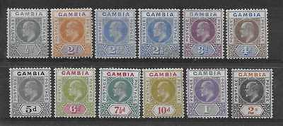 GAMBIA  SG 57 & 59/68  1904/6 WMK MULT CROWN CA SETV BOTH SHADES OF 2 1/2d  MINT