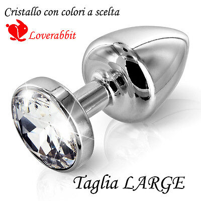 Sex Gioiello Butt Plug Stopper Anal Plug Metallo Silver Dildo Egg Adult Large