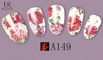 Nail Art Water Decals Stickers Transfers Vintage Flowers Floral Gel Polish A149