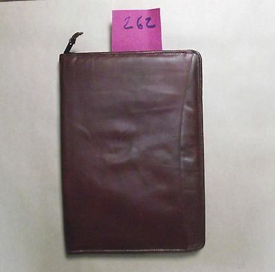 A4 brown leather folder  (style 262)