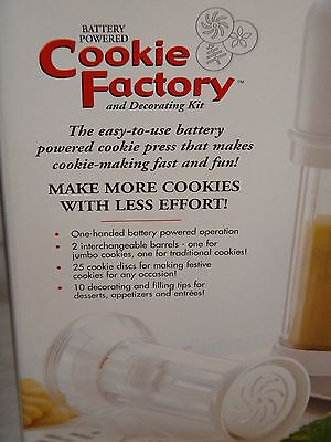 Bonjour Battery Powered Cookie Factory and Decorating Kit