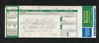 2000 Christina Aguilera unused full concert ticket Los Angeles CA Mi Reflejo