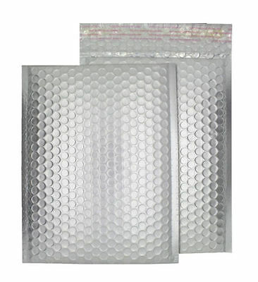 50X Metallic Bubble Wrap Foil Lined Padded Mailing Shiny Bags Gift DVD Envelopes