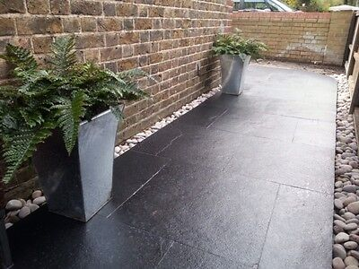 Kota Black Limestone - Large 600x900x22mm Cal Natural Indian Stone Paving Slabs