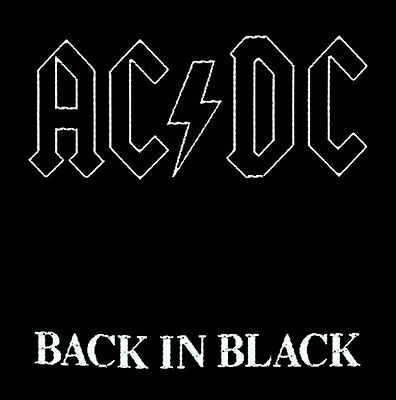 Ac/dc - Back In Black Patch - Brand New - Music Band 1512