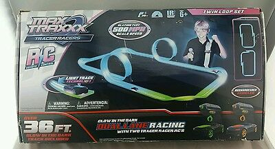 Max Traxxx Tracer Racers RC 36' Track Racing Set