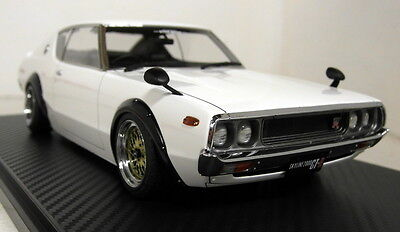Ignition Model 1/18 Scale 0747 Nissan Skyline 2000 GT-R KPGC110 White Resin car