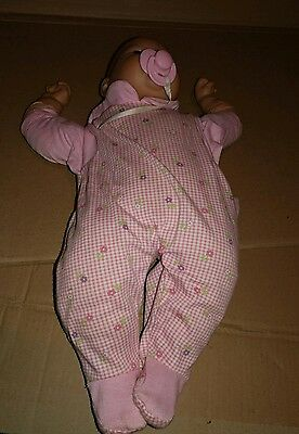vintage Zapf Creation Baby Doll with pink pacifier