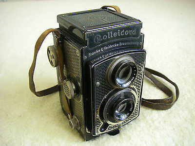 Early Rolleicord I Model 1 Nickel Planted Art Deco Rollei Tapeten Film Camera