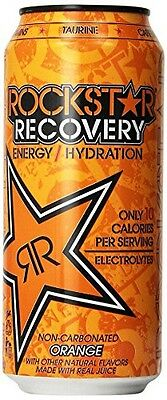 Rockstar Energy Drink, Orange Recovery, 16 Ounce (Pack of 24)