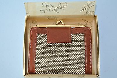 Vintage St. Thomas Leather Billfold Wallet & Change Purse ~ New in Box