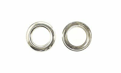 10 - 100 30mm Silver Metal Eyelets Grommets Washers for Curtains Sewing Crafting