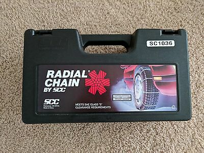 SCC Radial Cable Tire Snow Chains - Stock # SC1036 - Never Used