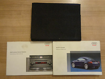 Audi TT Coupe Owners Handbook/Manual and Wallet 03-06