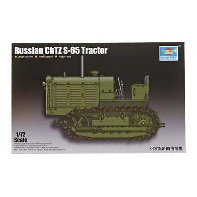 NEW Trumpeter 1/72 Russian ChTZ S-65 Tractor w/Open Cab 7112