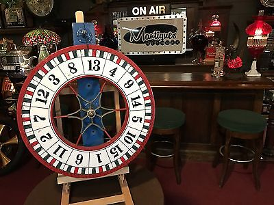 """1940's CARNEY Gaming Wheel Wall Mount """"Watch Video"""""""