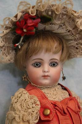 """Antique 10"""" French F 1 G Bebe Gaultier Doll Orig dress shoes 8 Ball Joint Body"""