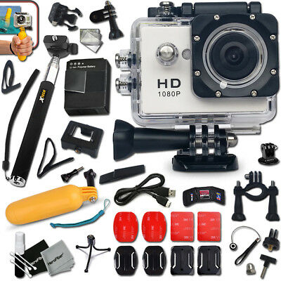KIDS Waterproof ACTION Camera / Camcorder HD 1080p + Monopod + ACCESSORIES KIT