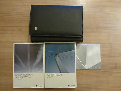 Lexus CT 200h Owners Handbook/Manual and Wallet 10-14