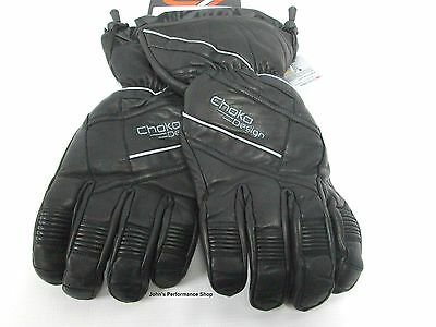 Choko Men's Black Snowmobile Ultra Leather Gloves S M L XL 2X 250000