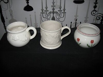 Laura Ashley Mugs X 2 And Sugar Bowl - New And Limited. Microwave & Dishwasher