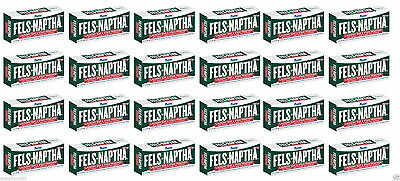 24 Bars Fels Naptha Laundry Bar Soap & Stain Remover 5.0oz NEW!